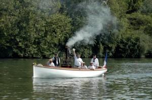 Seine - Chatou bateau à vapeur Suzane