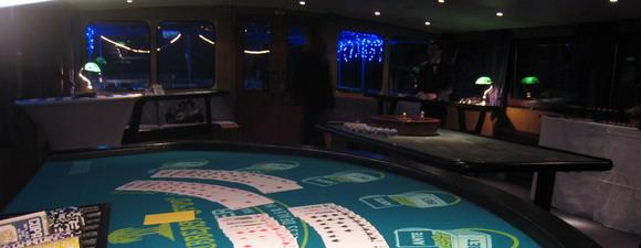 Animation casino à bord du yacht LE SIGNAC